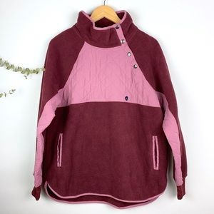 Abercrombie & Fitch Asymmetrical Snap Fleece NWT